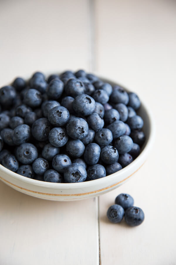 Fresh blueberries for blueberry compote