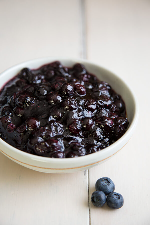 Blueberry Compote in a bowl