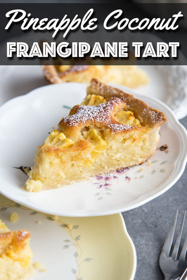 Pineapple Coconut Frangipane tart with a buttery crust, creamy coconut frangipane filling and ripe sugary pineapple. | wildwildwhisk.com #pineapple #coconut #frangipane #tart