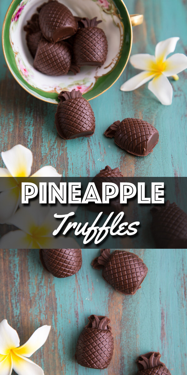 These Pineapple Truffles are exploding with pineapple flavor thanks to the freeze dried pineapple in the ganache filling. | wildwildwhisk.com #pineapple #truffles #candies