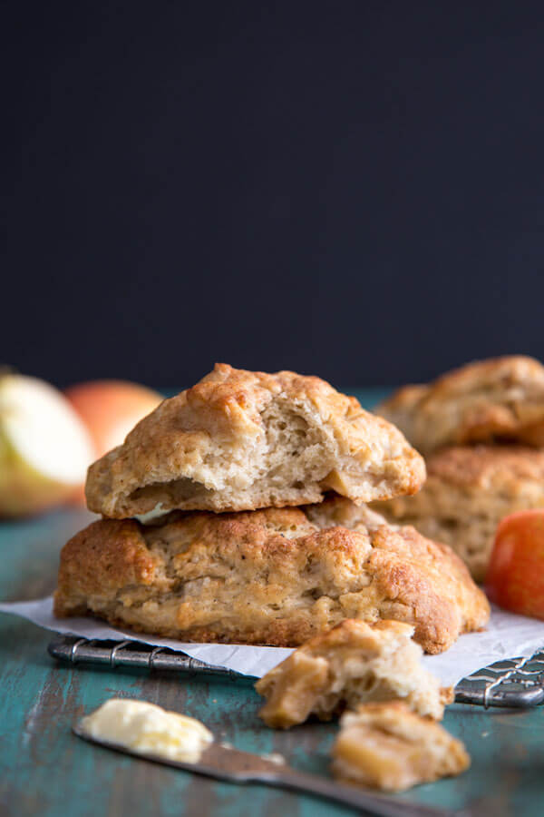 A stack of two Apple Pie Scones