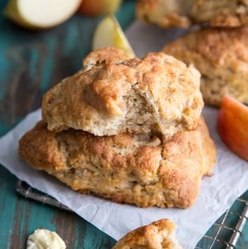 Apple Pie Scones made with buttermilk