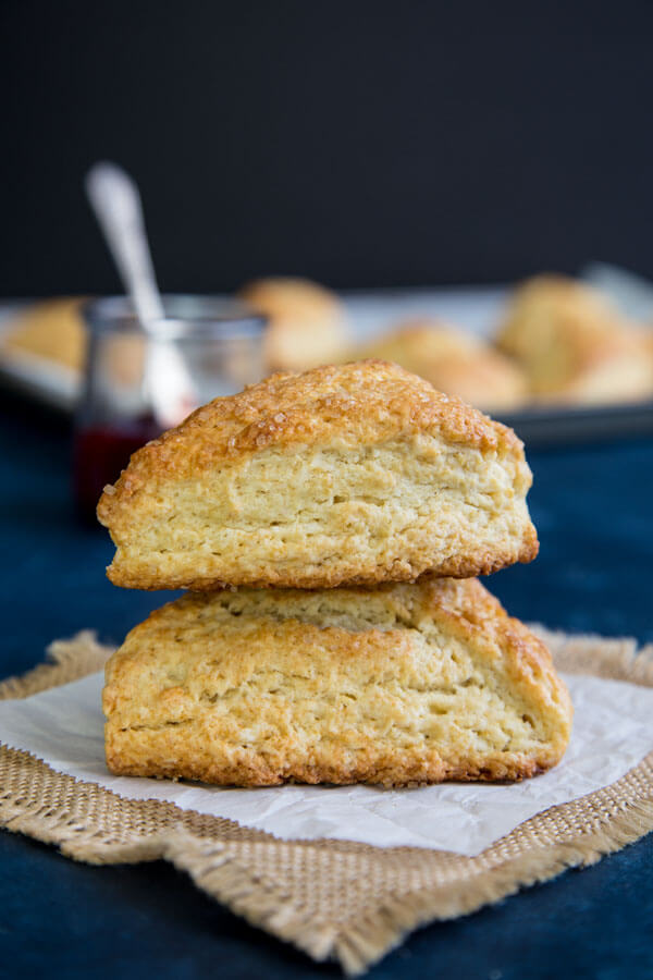 A stack of two Buttermilk Scones