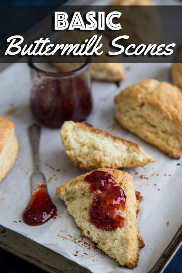 These Basic Buttermilk Scones are so simple to pull together in a short time. They bake up super tender and absolutely delicious. | wildwildwhisk.com #scones #buttermilk #buttermilkscones