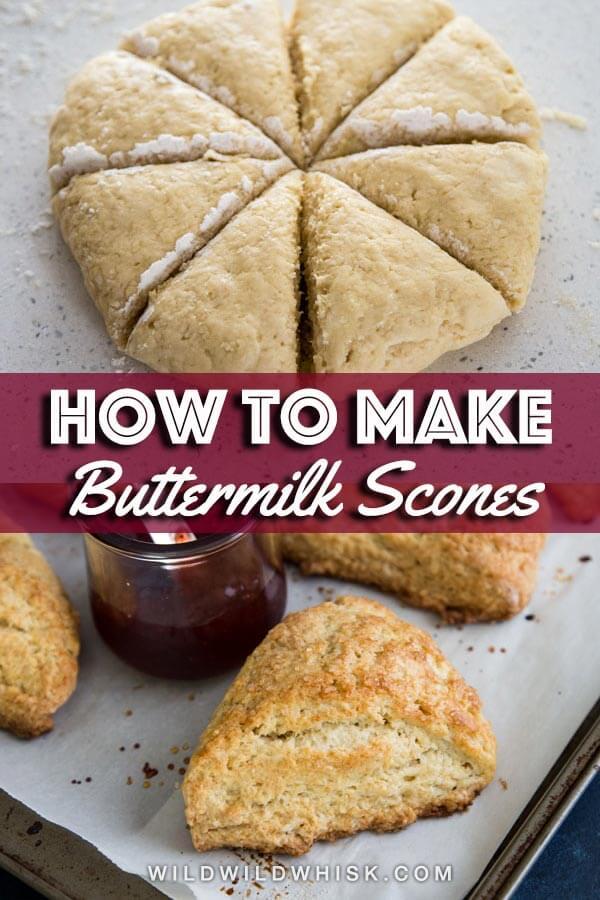 Buttermilk scones pin image