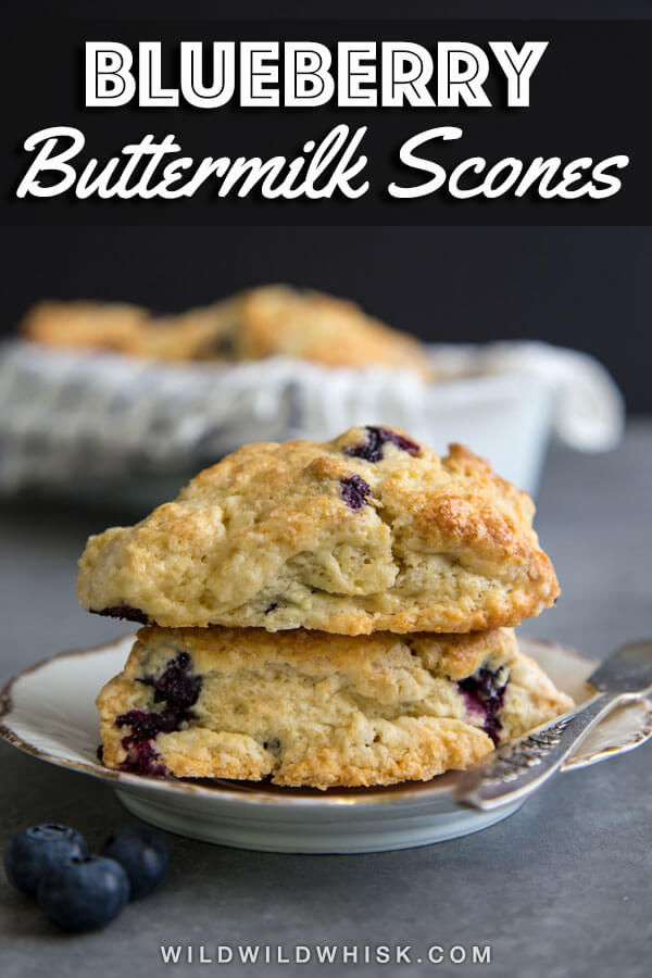 Simple Blueberry Scones made with buttermilk and fresh blueberries #wildwildwhisk #blueberryscones #blueberrybuttermilkscones #scones #buttermilkscones