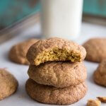 A stack of pumpkin snickerdoodle cookies