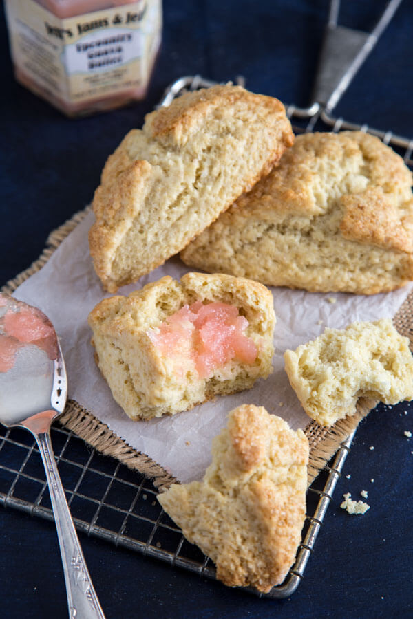 Basic Cream Scones with fruit butter