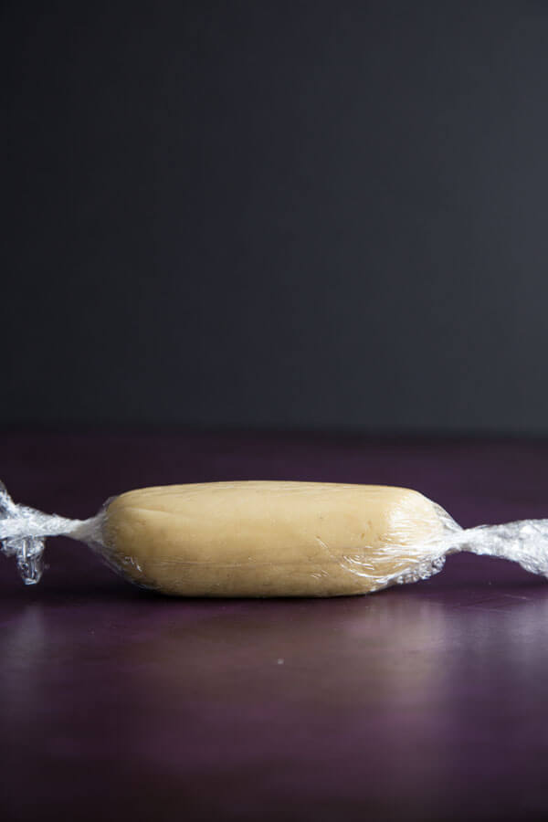 A roll of Homemade Almond Paste