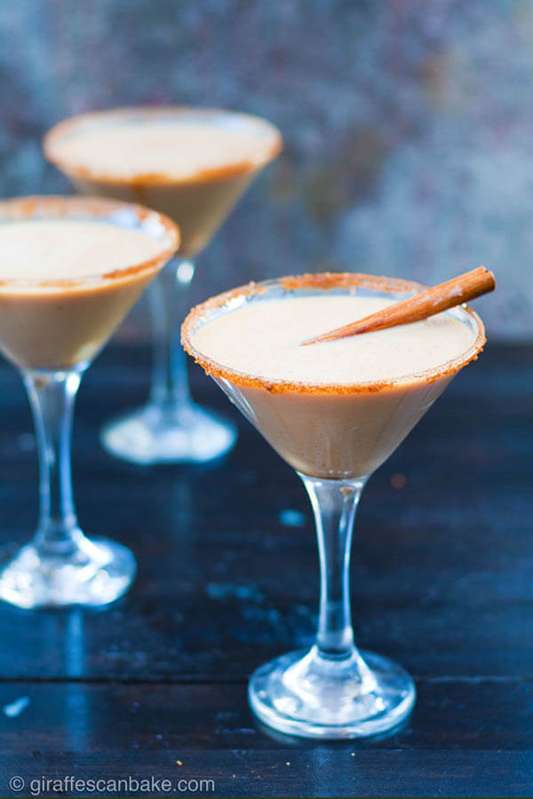 Thanksgiving dinner menu - Baileys Pumpkin Spice Espresso Martini from A Tipsy Giraffe