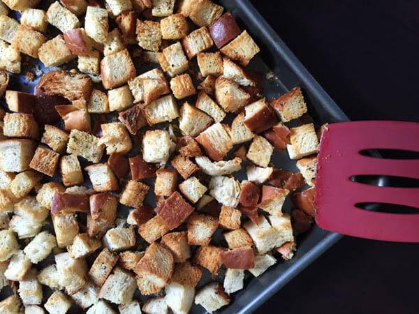 Thanksgiving dinner menu - DIY stuffing cubes from OMG Yummy
