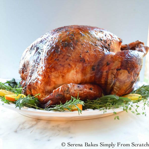 Thanksgiving dinner menu - super juicy turkey from Serena Bakes Simply From Scratch