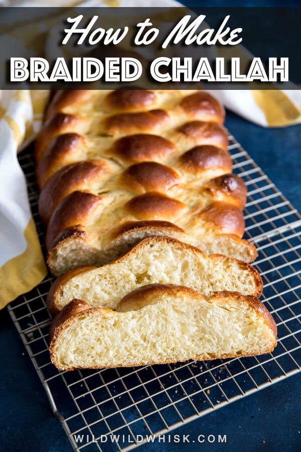 This traditional six strand Challah recipe is sweetened with honey. It yields soft, dense and sweet bread that will be perfect for French toast, sandwiches, and everything in between. #wildwildwhisk #challah #bread #breadrecipes #yeastbread #braidedbread #sweetbread #holidaybread #homemadebread #challahbread #challahrecipe