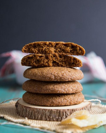 A stack of Ginger Molasses Cookies