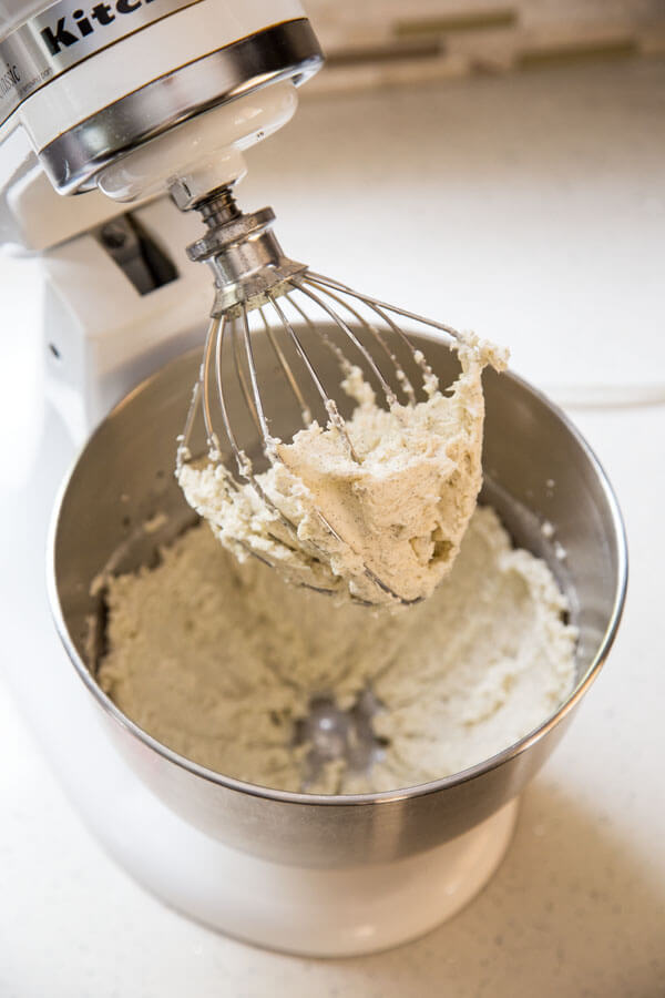 Swiss meringue buttercream came together in the stand mixer