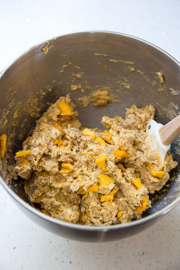 Tropical Mango Oatmeal Cookie dough