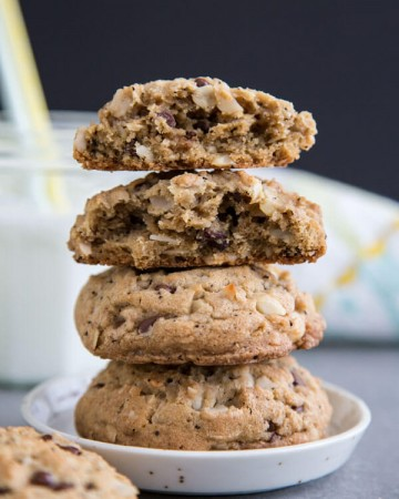 A stack of Big Island Cookies on a plate