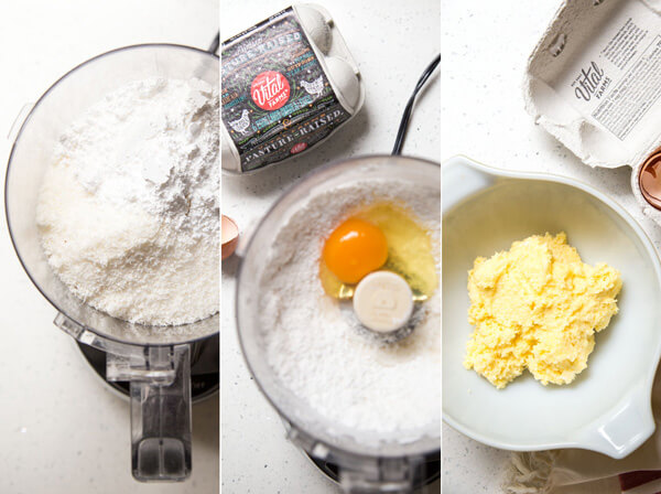 Make the coconut paste in a food processor