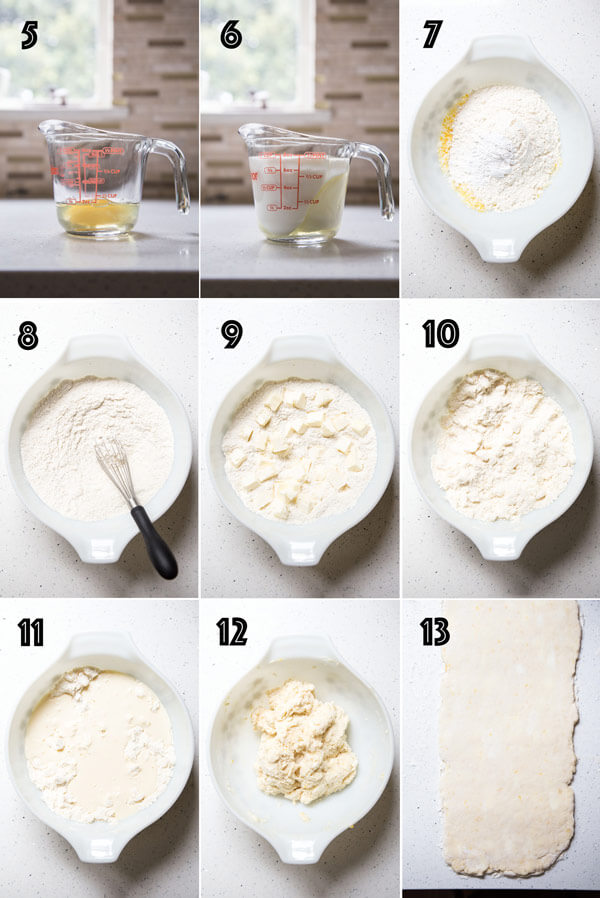 Making the scone dough