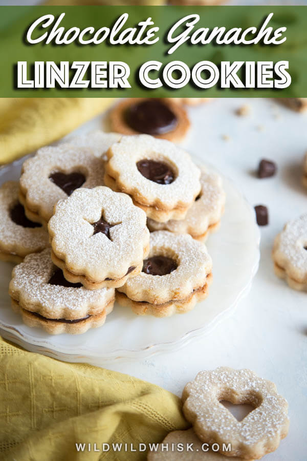 This Linzer Cookie recipe adds a delicious twist to these traditional holiday cookies with a peppermint chocolate ganache filling. #wildwildwhisk #linzercookies #ad @Ziploc @nestletollhouse @walmart