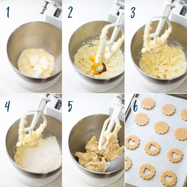 Making linzer cookie dough