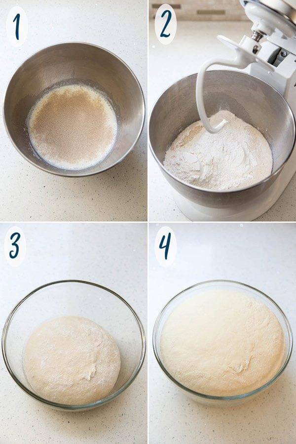 Making cinnamon bun dough