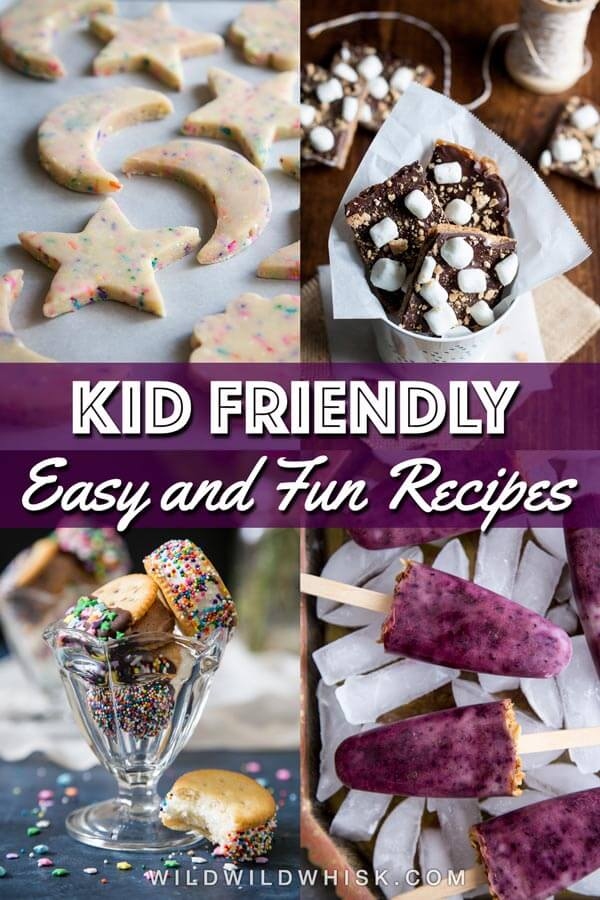 Kid friendly baking recipes collage