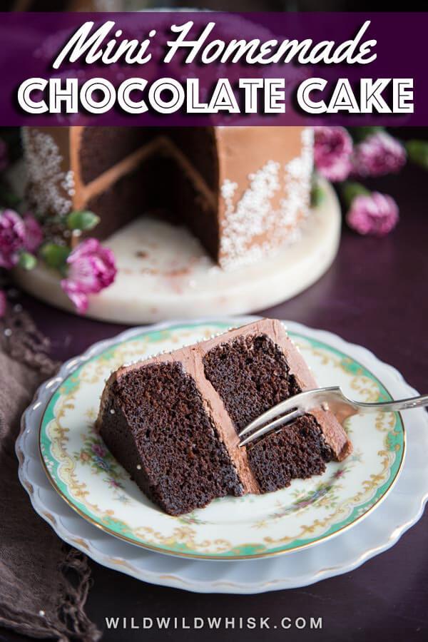 Mini chocolate cake pin image