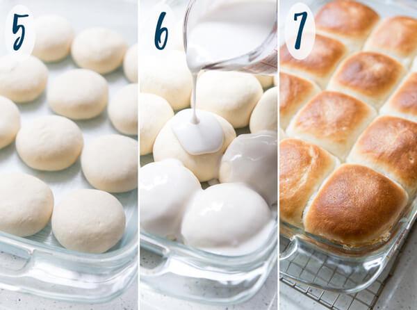 Assembling Pani Popo for baking