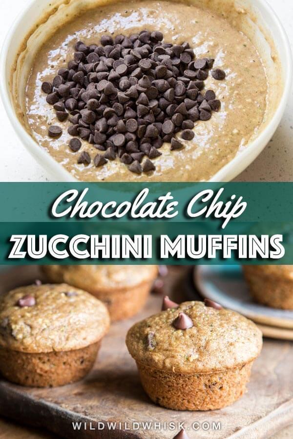 Zucchini bread muffin pin image