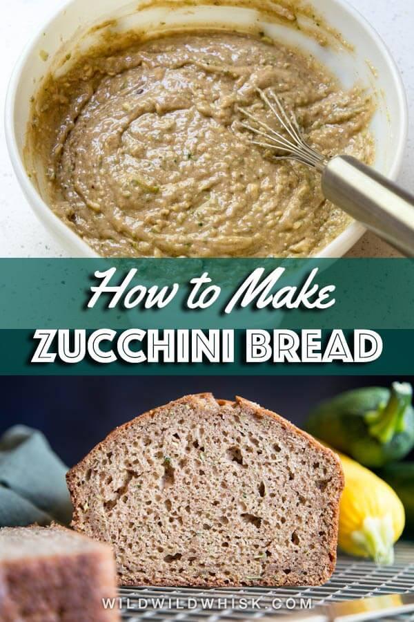 Zucchini bread pin image